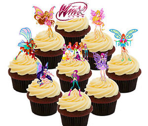 Winx Fairy Club College 36 Edible Cupcake Toppers Standup Cake