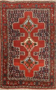 Tribal Traditional Geometric Area Rug Wool Hand-Knotted Home Decor Carpet 3x4