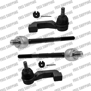 Front Suspension Tie Rod End Kit Inner Outer Fits 2007 Dodge Nitro