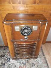 Rare Vintage 1941 Zenith Console Tube Radio Wave Magnet Am Shortwave Police Band