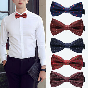 Fashion-Men-Wedding-Bowtie-Novelty-Tuxedo-Necktie-Bow-Tie-Classic-Adjustable