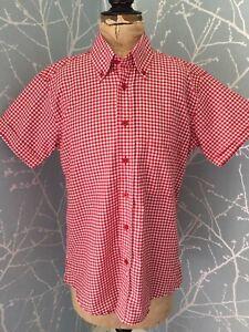 RED-GINGHAM-SHIRT-WARRIOR-SKINHEAD-MOD-CLOTHING-SKA-NORTHERN-SOUL-SKINS-MODS