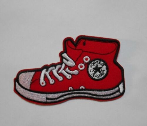 Patch écusson basket chaussure sport converse all star rouge
