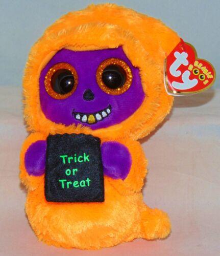 "2017 Ty Beanie Boos Halloween SKELTON the orange//purple Reaper 6/"" nwt/'s"