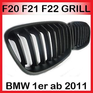 SPORT GRILL FRONTGRILL KÜHLERGRILL für BMW F20 F21 1er ab 2011 SCHWARZ GLÄNZEND