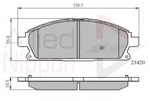 T30 X-TRAIL FRONT BRAKE PADS 2.0 2.2 2.5 NEXT DAY DELIVERY 2001-2007