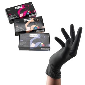 Friseurhandschuhe-100-stk-Sibel-Latex-Handschuhe-Schwarz-verschiedene-Groessen