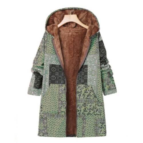 Damen Winterjacke Warm Kapuze Fleecejacke Hoodie Mantel Jacke Outwear Übergröße