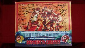 Washington-Redskins-70-Greatest-Signed-16x20-Print-W-27-Auto-039-s-Hanburger-Manley