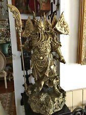 Huge Chinese Bronze Warrior Guan Gong