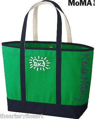 KEITH HARING x UNIQLO /'Baby/' Art Tote Bag X-LARGE Green//Navy SPRZ NY MoMA *NWT*