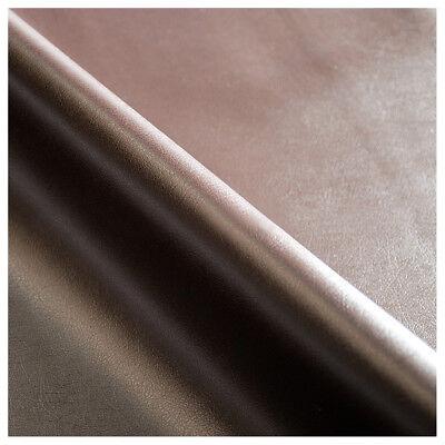 Tessuto ecopelle marrone SU MISURA multipli di 10cm copritavolo pelle sky metro