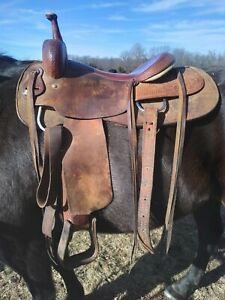 16 inch Cutting Saddle Jay Novacek cowboy cutter by Longhorn