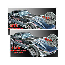 1978 Chevrolet Corvette Indy 500 Pace Car Decals Pack Of Two