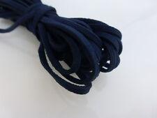 5m x 3mm Dark Navy Blu Finta Imitazione Pelle Scamosciata Cavo Tanga in Pizzo Perline Collana