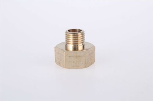 """Details about  /2 Pcs Brass G1//4/"""" x G1//2/"""" Thread Male to Female Fittings Hose Connector"""
