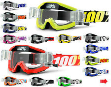 2019 100% PERCENT STRATA MOTOCROSS GOGGLES with GSO ROLL OFF CANISTERS mx mtb