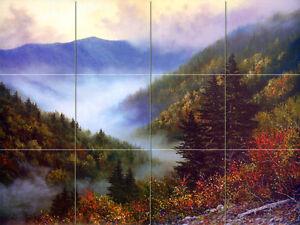 Art Mural Tumbled Marble Backsplash Landscape Tile #130