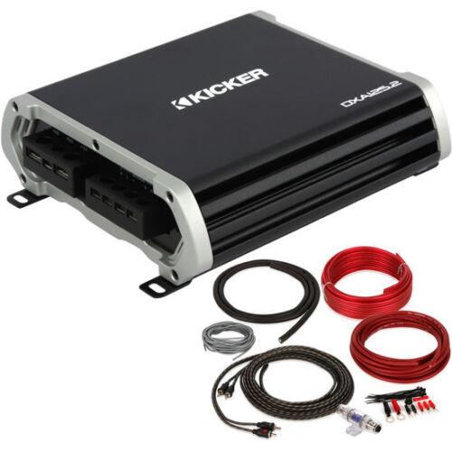 KICKER 43DXA1252 250W 2 Channel Car Amplifier Complete 8 Gauge Amp Kit!