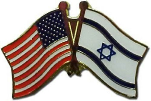 Wholesale Pack of 12 USA American Israel Friendship Flag Hat Cap lapel Pin