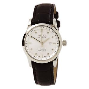Femme-Mido-Watch-multifort-Diamant-Ton-Argent-Cadran-Bracelet-Noir-M0050071603620