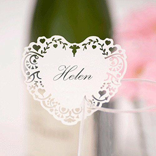 Vintage Romance Place Cards for Glass pack of 10