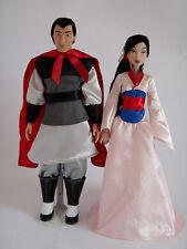 New Disney Store Mulan & Li ShangClassic Dolls Fully Poseable