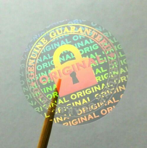 Hologramme Garantie Transparent Inviolable Étiquette Sécurité Stickers 20 mm Dia
