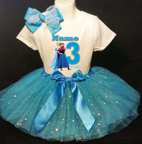 Frozen 3rd Birthday dress --With NAME-- party Tutu outfit