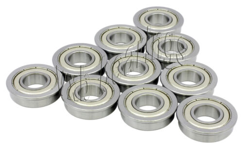 10 Flange Bearing F696ZZ 6x15x5 Shielded Ball Bearings
