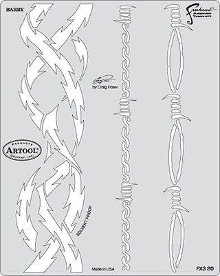 Artool Freehand Craig Fraser Kustom FX3 Airbrush Paint Stencil Template Barby
