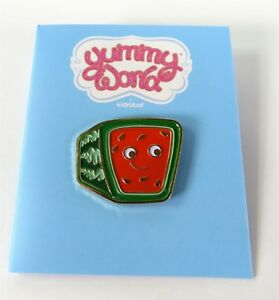 Kidrobot YUMMY WORLD Enamel Pin Series KENJI SQUARE WATERMELON Opened Blind Box