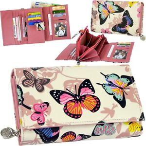 JENNIFER-JONES-Damen-Geldboerse-Schmetterling-Geldbeutel-Brieftasche-Portemonnaie