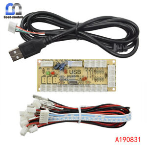 Zero Delay LED Arcade MAME Encoder USB To PC 5Pin Joystick PCB Board+Kabel L1SA