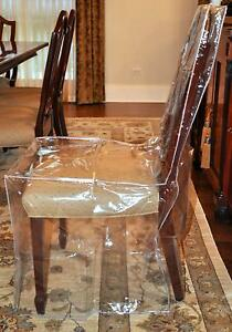 Details about Furniture Protector Dining Room Chair Plastic Cover Clear  Heavy Duty Chair Cover