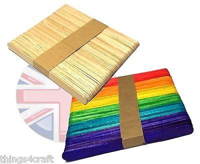 Natural or Colour Wooden Lollipop stick lollypop sticks lolly stick UK Seller