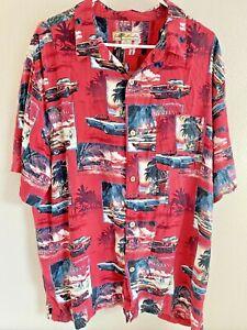 Joe Marlin Herren SZ 2xl Ford Mustang Cabrio Autos Hawaii Shirt Cabana XXL