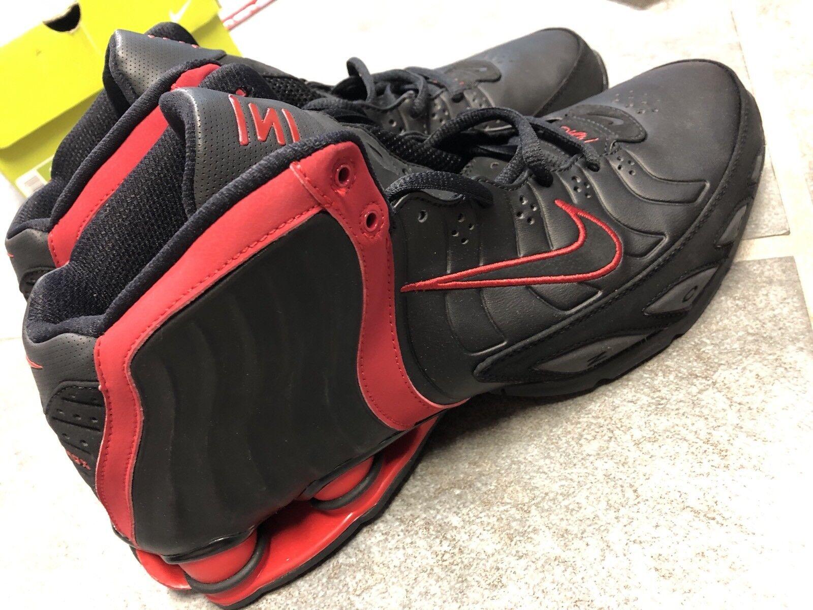 nike shox flug tödlich tb zoom - basketball - - schuhe größe 11 schwarz - - rot 2005 vc 18afc9