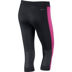 BNWT-Nike-645603-013-Ladies-Black-Pink-Essential-Capri-Tights-Size-M