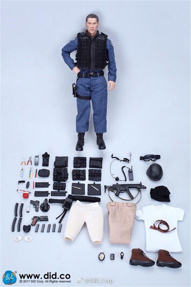 1 6 DID MA1003 LAPD SWAT'90S Kenny Speed Jack Keanu Charles Reeves Figure