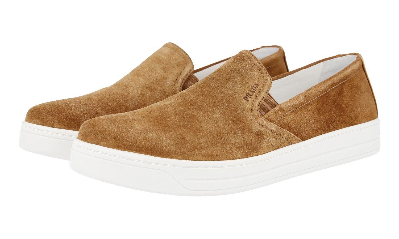Lujo prada cortos zapatos zapatos zapatos 3s5802 Caramel serraje nuevo New 40,5 41 UK 7.5  auténtico