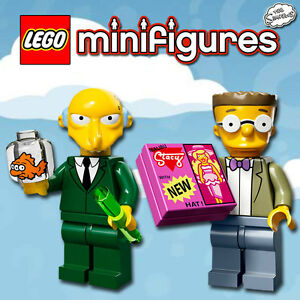 LEGO Minifigures #71005, #71009 - Simpsons - Burns + Smithers - NEUF - Sealed
