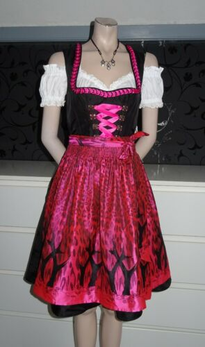 German Austrian Modern Dirndl Dress Blouse Apron 6