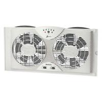 Holmes Electronically Reversible Twin Window Fan