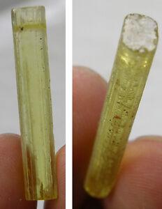 #9 Cambodia Natural Rough RawTerminated Heliodor Crystal Stick Specimen 12.15Ct