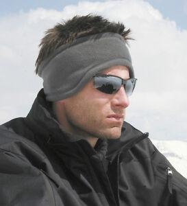 Active-polaire-bandeau-anthracite-douillet-chaud-chauffe-oreilles-pour-Sport