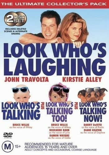 1 of 1 - Look Who's Talking 1, 2 & 3 (DVD, Region 4) John Travolta - Brand New, Sealed