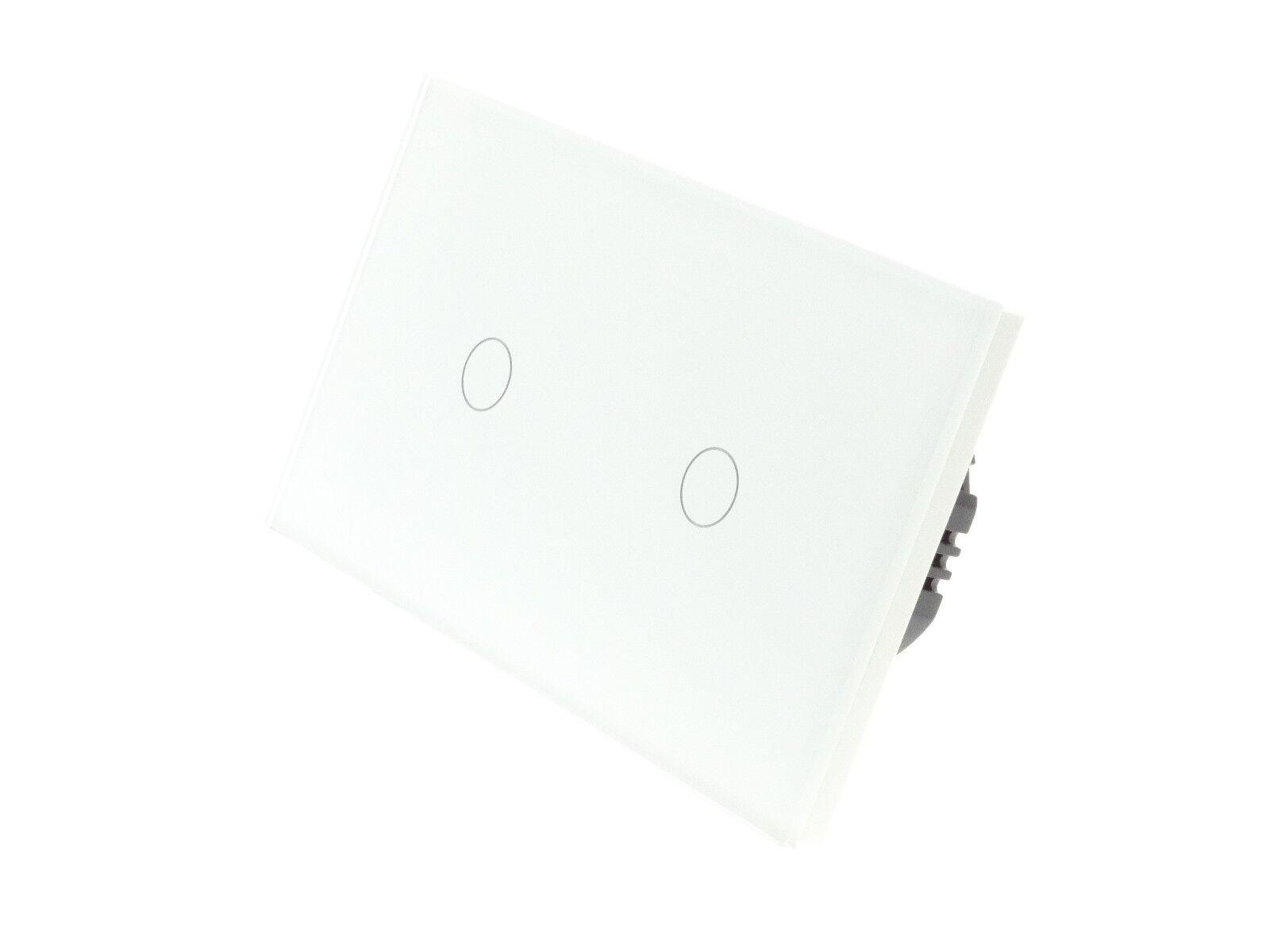 I Lumos Luxe Verre Blanc Blanc Verre Panel Touch Remote Dimmer DEL lumière Commutateurs 4dc5e8