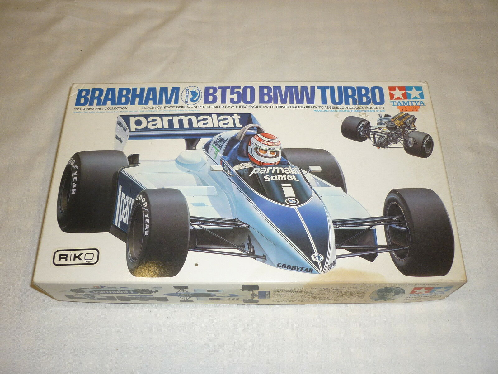 TAMIYA un made plastic kit of a Brabham BT50 BMW TURBO, boxed