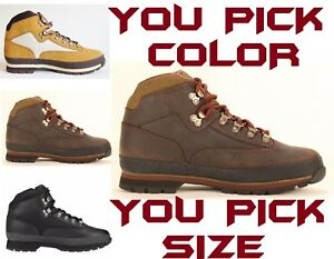 TIMBERLAND-MEN-039-S-CLASSIC-LEATHER-EURO-HIKER-HIKING-BOOTS-SHOES-PICK-COLOR-amp-SIZE